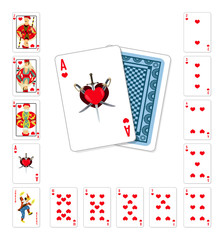 Playing cards heart Ace