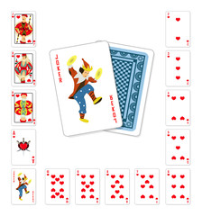 Playing cards heart oker