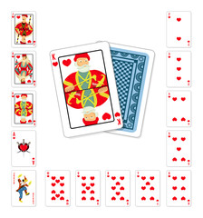 Playing cards heart King