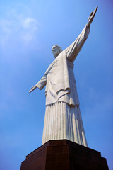 RIO DE JANEIRO, BRAZIL : Christ the Redeemer statue was created by French sculptor Landowski between 1922 and 1931, stand on the top of Corcovado Mountain in Rio de Janeiro, Brazil