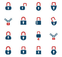 lock icons set