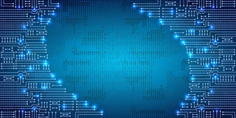 Electronic circuit and  binary code
