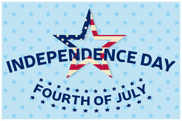 Independence day greeting card, flyer. Independence day poster. Patriotic banner for website template. Vector illustration.