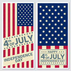 Happy 4th of july, Independence day greeting card, flyer. Independence day poster. Patriotic banner for website template. Vector illustration.
