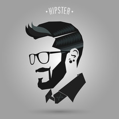 hipster blue hair style