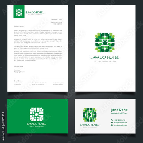 hotel brand identity. luxury logo and corporate identity template, Powerpoint templates