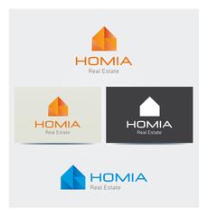 Logo Icone Maison Domicile Carte de Visite et Charte Graphique Entreprise Plusieurs Couleurs