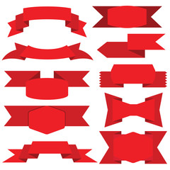 red ribbons, red labels