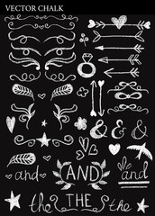 Chalk Decorative Design Elements