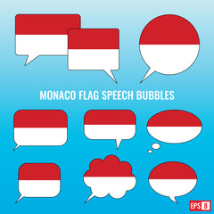 Monaco Flag Speech Bubbles