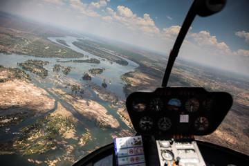 Victoria waterfall and Zambezi river