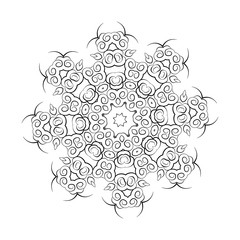 Mandala Illustration for coloring book