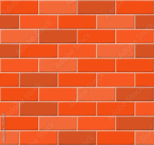 """Cartoon Hand Drown Multicolored Seamless Brick Wall"