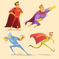 Superhero Cartoon Set