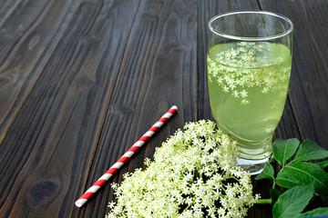Glass of elderflower juice