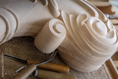 Timber, wood processing  Joinery work  wood carving with
