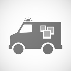 Isolated ambulance icon with a few photos