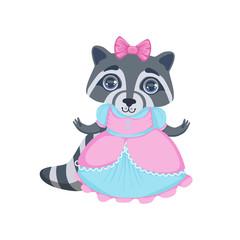 Girl Raccoon In Fancy Dress