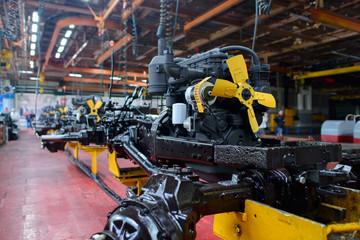 Machine-Building Plant, assembly shop, selective focus