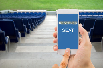 reserving a seat with a smart phone