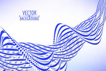 Abstract spiral wave background. Vector illustration.