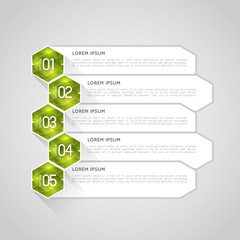 option infographic banners with crystal polygons, graphic design template