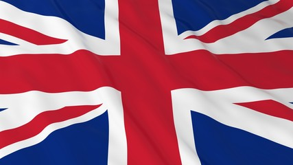 British Flag HD Background - Flag of the UK 3D Illustration
