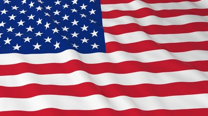 American Flag HD Background - Flag of the USA 3D Illustration