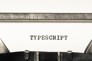 Obraz Word typescript  typed on  typewriter - fototapety do salonu