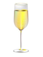 бокал вина на белом фоне