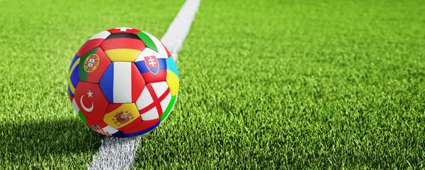 Fußball auf Rasen - Anstoss