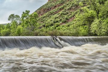 Poudre river diversion dam