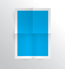 Sheet of paper page folded, realistic vector