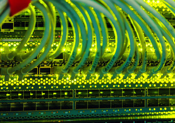 cables in the switch date is the center of an array of transmitter