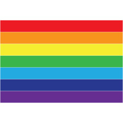 Vector Rainbow flag icon, lgbt community sign isolated on white background.
