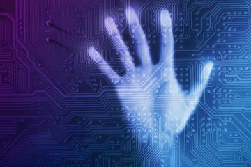 Future technology concept integrates electronics and bio-technologies