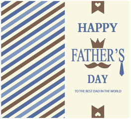 Happy Fathers day greeting cad.vector llustration.