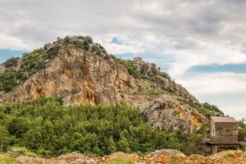 beautiful mountain, an abandoned quarry