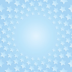 Blue stars in a circle with shadow. Eps 10.