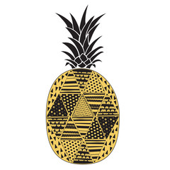 Pineapple. Vector isolated illustration on a white background.