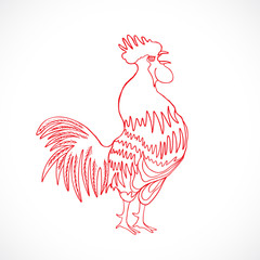 Chinese zodiac rooster design element for Chinese New Year decor
