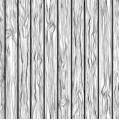 Wood texture. Seamless vector pattern. Black and white hand-draw background.