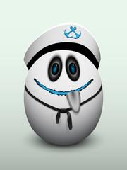 Egg young sailor's cap.