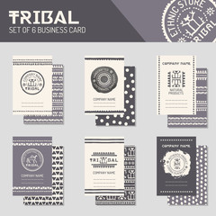 Ethnic style business template collection. Journal cards