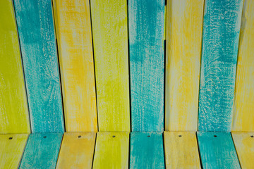 Bench Slats in Pastel Colors