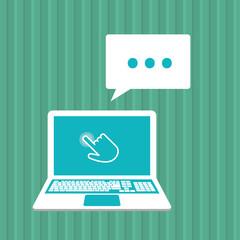 Communication design. Cursor icon. Colorful illustration , vector