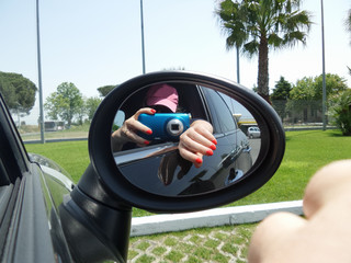 Rearview Mirror Selfie