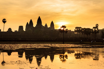 Angkor Wat Temple during sunrise, Cambodia