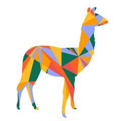 llama abstract shapes illustration