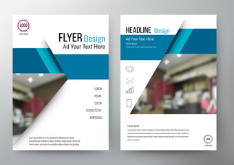 Flyer design Layout Template Vector Brochure. For annual report